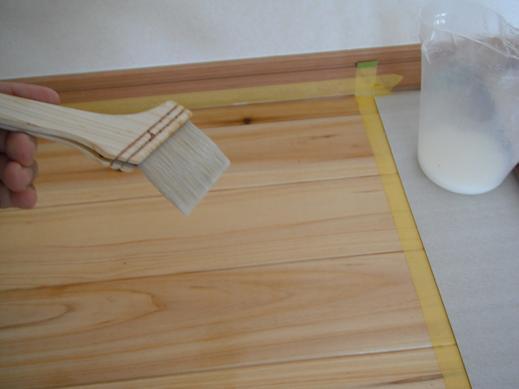 その1 :木材、吸い込みテスト