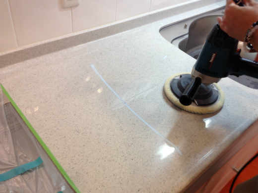 人造大理石 研磨鏡面加工