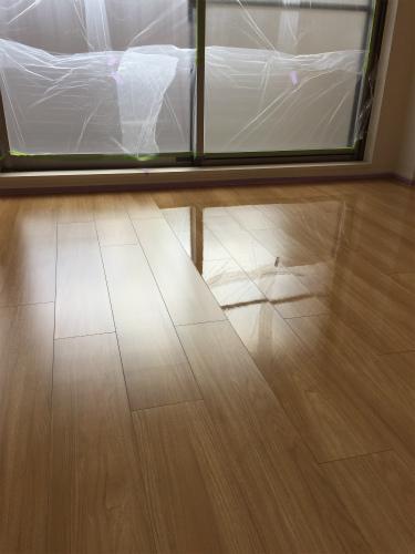 大阪豊中、若林邸フロアコーティング